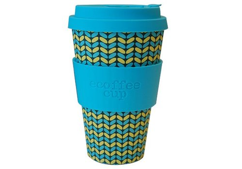 Ecoffee Cup Bamboo - 400 ml Norweaven - Light Blue