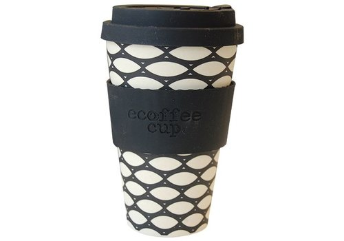Ecoffee Cup Bamboo - 400 ml Basket Case - Black