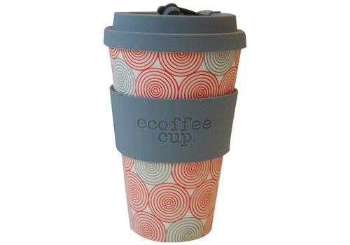 Ecoffee Cup Bamboo - 400 ml Swirl - Grey