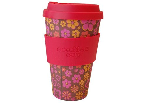 Ecoffee Cup Bamboo - 400 ml Yeah Baby - Red