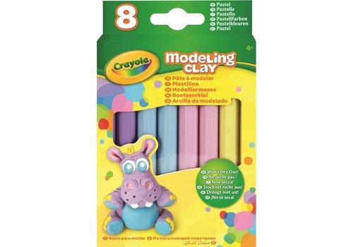 Boetseerklei - 8 sticks Pastel Kleuren