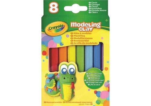 Boetseerklei - 8 sticks Klassieke Kleuren