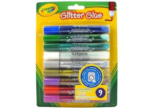 9 Glitterlijmtubes