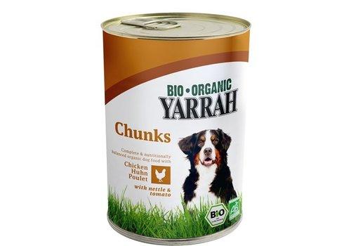 12x yarrah dog blik brokjes kip in saus met brandnetel en tomaat