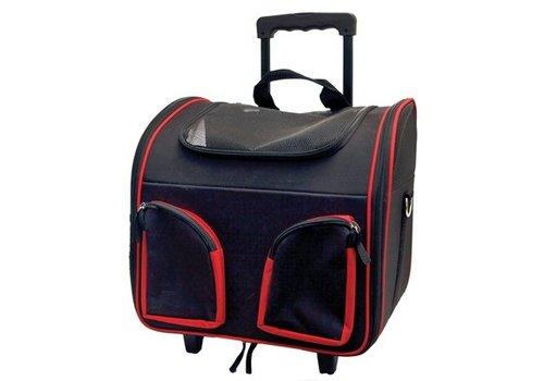 Draagbare trolley zwart / rood