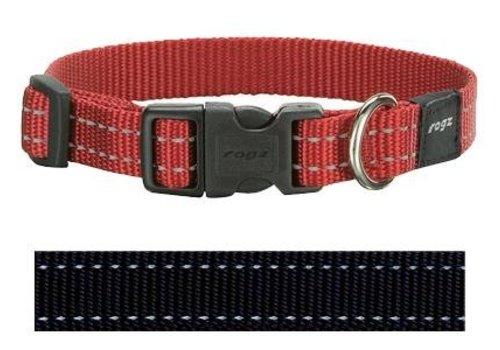 Rogz for dogs snake halsband zwart