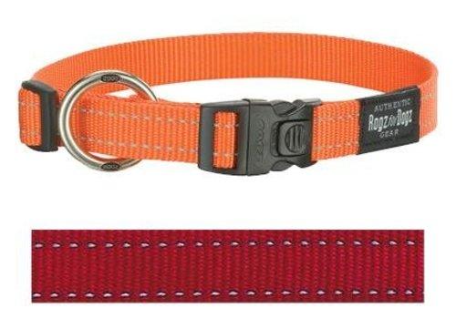 Rogz for dogs fanbelt halsband rood
