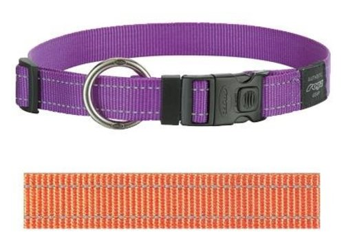 Rogz for dogs lumberjack halsband oranje
