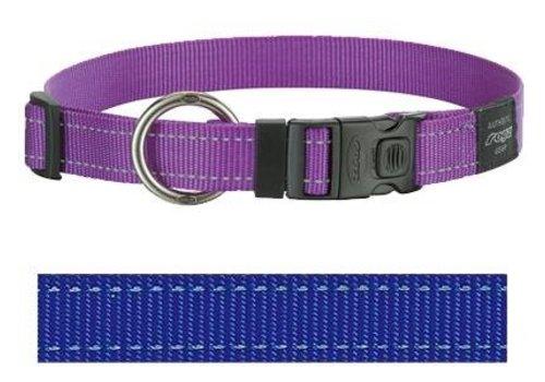 Rogz for dogs lumberjack halsband blauw