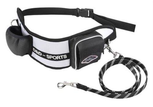 D&d hondenriem sports walker reflecterend kleine / middelgrote hond wit / zwart