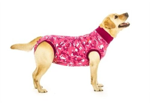 Suitical recovery suit hond roze camouflage