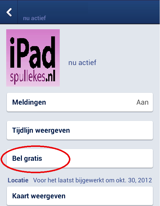 Gratis belle met Facebook messenger