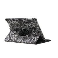 iPad hoes 360 graden Luipaard print grijs