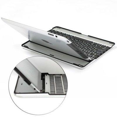iPad hoes met toetsenbord aluminium grijs