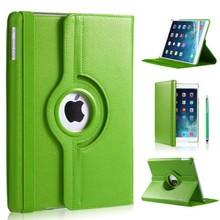 iPad Air hoes 360 graden groen leer