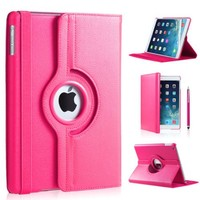 iPad Air 2 hoes 360 graden roze leer