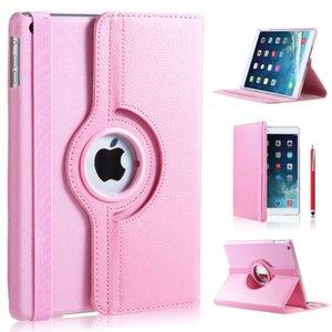 iPad Air 2 hoes 360 graden licht roze leer