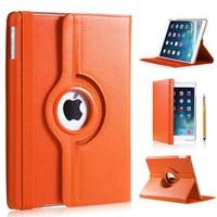 iPadspullekes.nl iPad Air 2 hoes 360 graden oranje leer