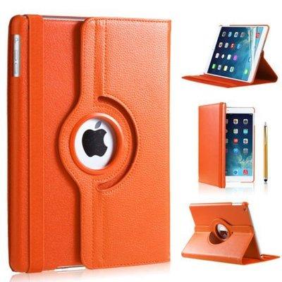 iPad hoes 360 Graden oranje leer