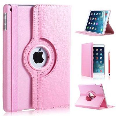 iPad hoes 360 graden licht roze leer