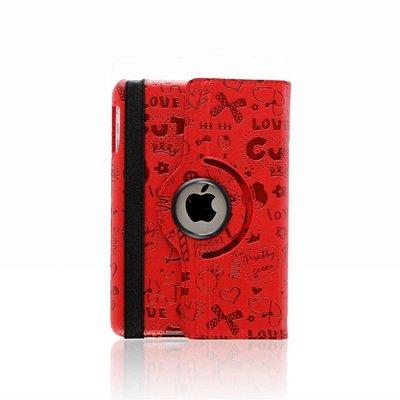 iPad mini 360 graden hoes Trendy leer rood