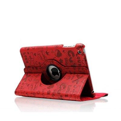 iPadspullekes.nl iPad mini 360 graden hoes Trendy leer rood