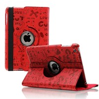 iPad mini 360 graden hoes Trendy leer rood