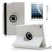 iPadspullekes.nl iPad Mini hoes 360 graden leer wit