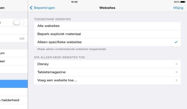 iPad website verbieden