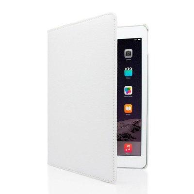 iPad hoes 360 graden wit leer