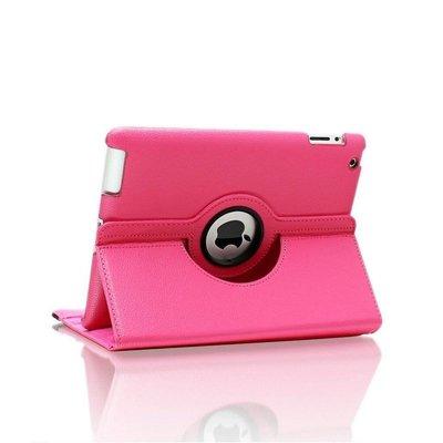 iPad hoes 360 graden roze leer