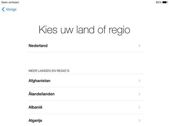 iPad handeiling taal instellen
