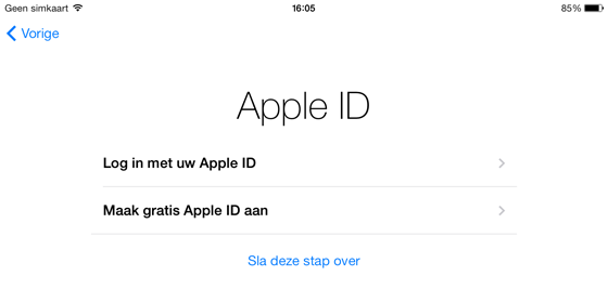 iPad handleiding apple id