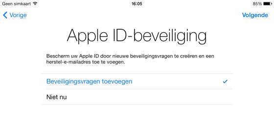 Handleiding iPad Apple ID beveiliging