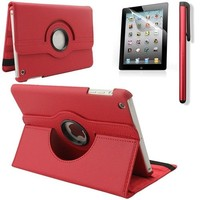 iPad Mini 4 hoes 360 graden leer rood