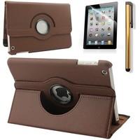 iPad Mini 4 hoes 360 graden leer bruin