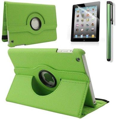 iPadspullekes.nl iPad Mini 4 hoes 360 graden leer groen
