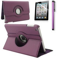 iPad Mini 4 hoes 360 graden leer paars