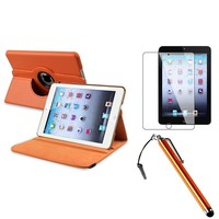 iPad Mini 4 hoes 360 graden leer oranje