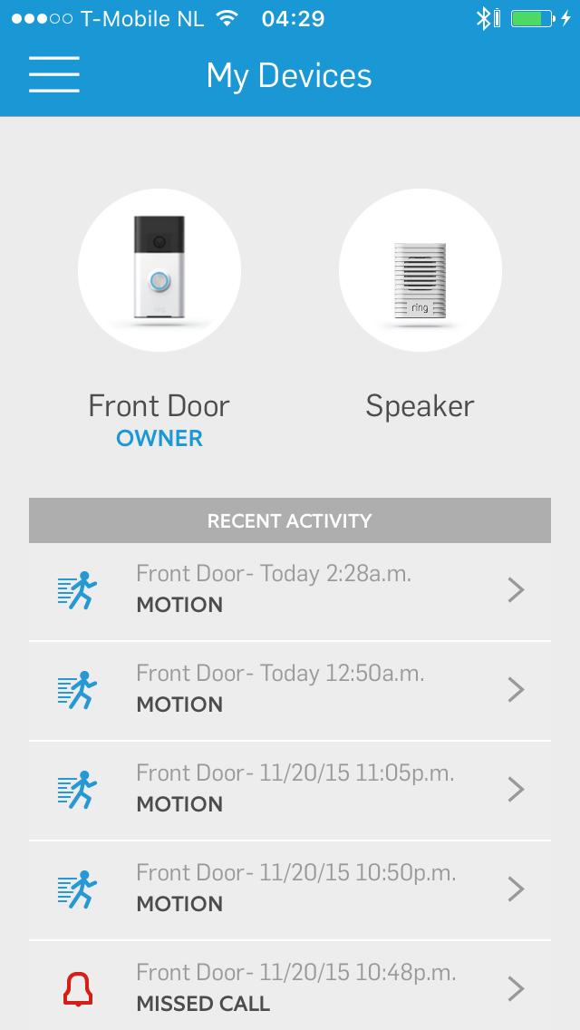 deurbel met camera app
