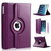 iPad Pro 9,7 hoes 360 graden paars leer