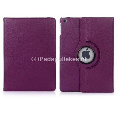 iPadspullekes.nl iPad Pro 9,7 hoes 360 graden paars leer
