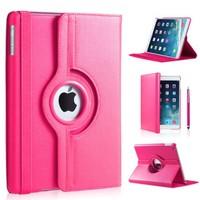 iPad Pro 9,7 hoes 360 graden roze leer