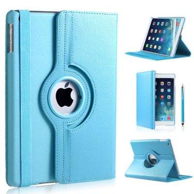iPadspullekes.nl iPad Pro 9,7 hoes 360 graden licht blauw leer