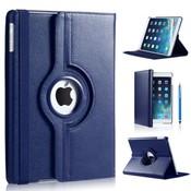 iPadspullekes.nl iPad Pro 9,7 hoes 360 graden donker blauw leer