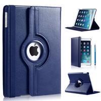 iPad Pro 9,7 hoes 360 graden donker blauw leer