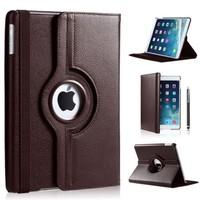 iPad Pro 9,7 hoes 360 graden bruin leer