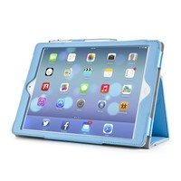 i-Blason Leather Slim Book Case for iPad Air blauw