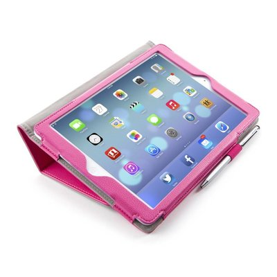 i-Blason Leather Slim Book Case for iPad Air roze