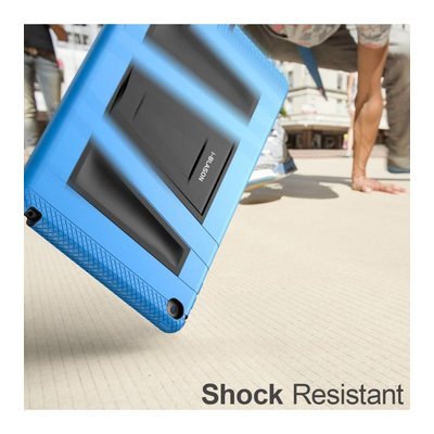 i-Blason ArmorBox 2 Layer Full-Body Protection KickStand Case for iPad Air 2 blauw en zwart
